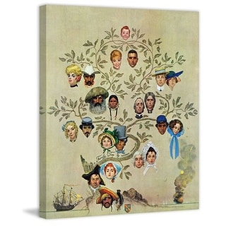 Marmont Hill Family Tree Norman Rockwell Painting Print on Canvas