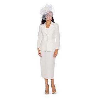 Giovanna Signature Women's 2-pc Linen Skirt Suit