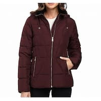 Calvin Klein Chianti Red Womens Size XL Front Zip Down Jacket