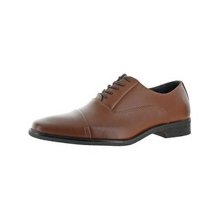 Calvin Klein Mens Radley Oxfords Leather Cushioned Insole - 9 wide (e)