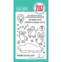 """Avery Elle Clear Stamp Set 4""""X6""""-Bring On The Joy"""