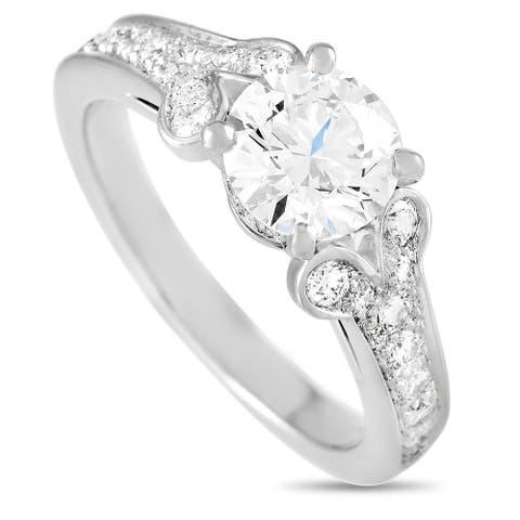 Cartier Ballerine Platinum 1.84 ct Diamond Engagement Ring Size 6.75