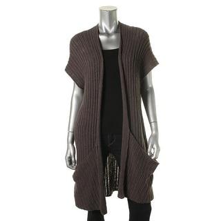 Free People Womens Linen Blend Open Stitch Cardigan Sweater - S
