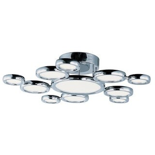 ET2 E21146 Timbale 11 Light 32'' Ceiling Fixture with Frosted Glass Shade