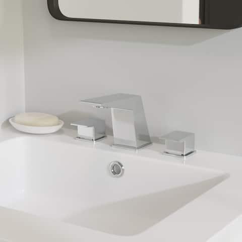 Carre Widespread Double Handle Bathroom Faucet