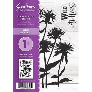 """Crafter's Companion Clear Stamps 4.1""""X5.8""""-Wild At Heart By Sheena Douglass"""