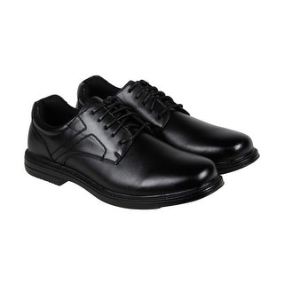 Deer Stags Nu Times Mens Black Leather Casual Dress Lace Up Oxfords Shoes