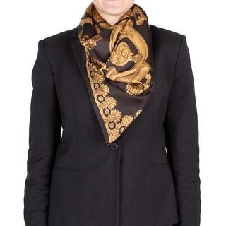 Versace Baroque Pattern Silk Scarf