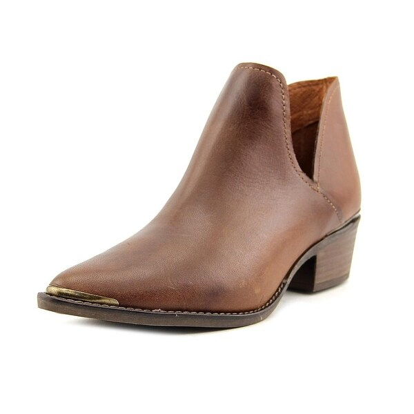 6c027011b6a Shop Steve Madden Tempe Women Pointed Toe Leather Brown Ankle Boot ...