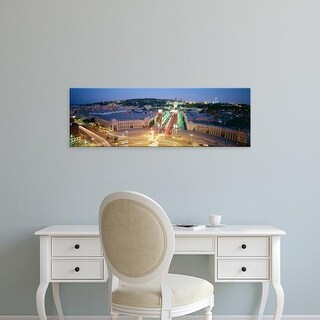 Easy Art Prints Panoramic Images's 'Barcelona Spain' Premium Canvas Art