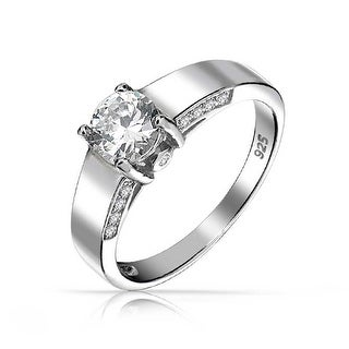 Link to 1.5 CT Solitaire U set Band AAA CZ Engagement Ring 925 Sterling Silver Similar Items in Rings