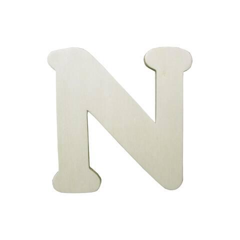 9181-n darice wood shape unfin letter 4 25 n