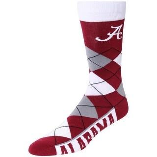 Alabama Crimson Tide Argyle Crew Socks