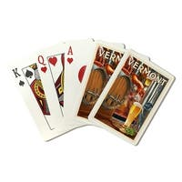 Vermont - The Art of Beer - Lantern Press Artwork (Poker Playing Cards Deck)
