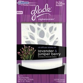Glade Expressions Oil Diffuser Starter, Lavender and Juniper Berry, 0.67 Ounce