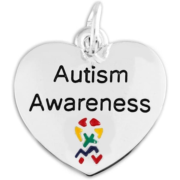 Autism Awareness Heart Charm. Opens flyout.