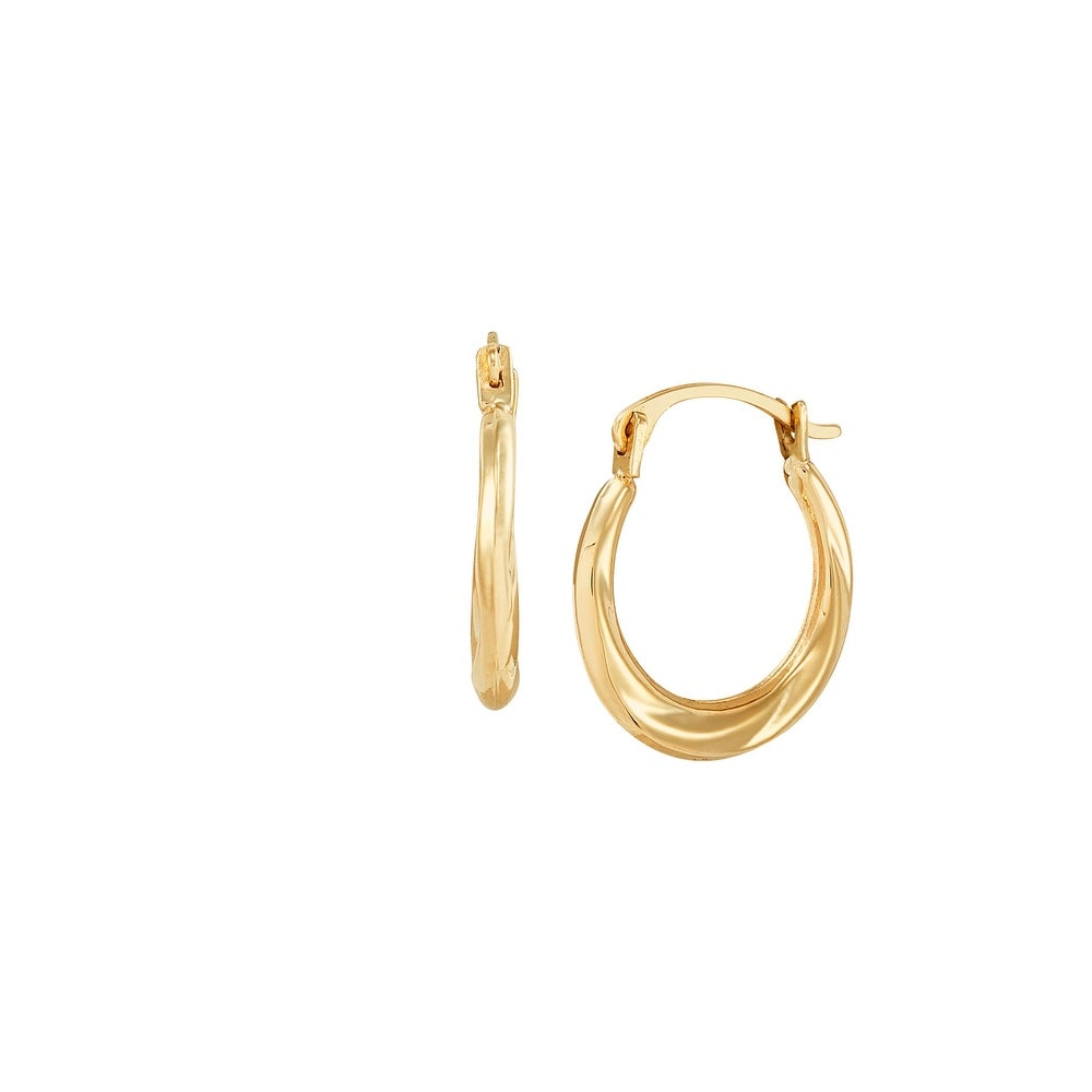 60mm Large Triple Hoop Etched Earrings In Gold Tone