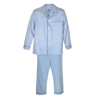 Majestic International Men's Cotton Herringbone Long Sleeve Pajama Set