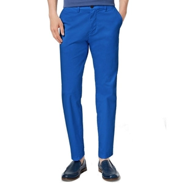 1f8f6888443 Shop Tommy Hilfiger Blue Mens Size 34 Custom Khakis Chinos Stretch Pants -  On Sale - Free Shipping On Orders Over $45 - Overstock - 28112848