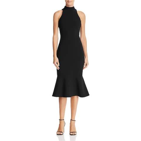 Likely Raelynn Women's Mock Neck Sleeveless Sheath Evening Dress