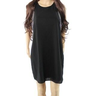 Adelyn Rae NEW Black Women's Size Large L Embellished Shift Dress