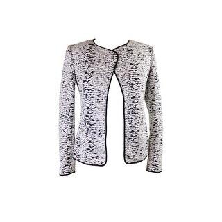 Calvin Klein White Black Jacquard Flyaway Jacket - 2