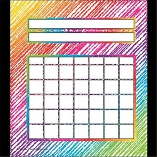 Teacher Created Resources TCR3072 Colorful Scribble Incentive Charts