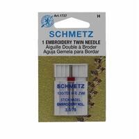 Schmetz Embroidery Twin Needle - Size 3.0/75