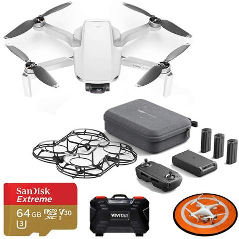 DJI Mavic Mini Fly More Combo Drone Quadcopter Kit with Landing Pad,