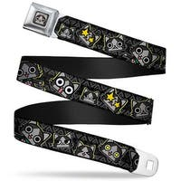 Merarou Face Full Color Black Gray Fade Merarou Expressions Tribal Black Seatbelt Belt