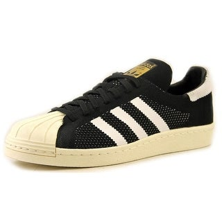 Adidas Superstar 80 Primeknit Men Round Toe Synthetic Black Sneakers