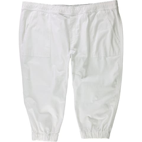 American Rag Mens Cropped Casual Jogger Pants, white, Large