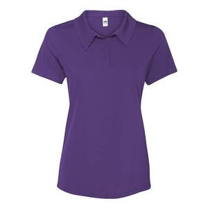 All Sport Women's Performance 3-Button Mesh Polo - Sport Purple - XS