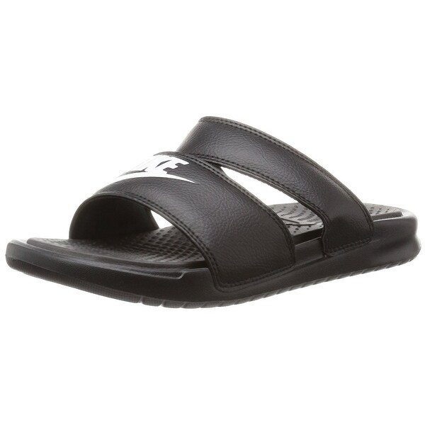 ... Shoes; /; Women's Shoes; /; Sandals. Nike Women's Benassi Duo  Ultra Slide Black/White Sandal ...