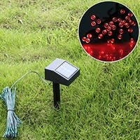 AGPtek 60 pcs Red Solar Power LED String Fairy Light for Christmas, party or other celebration occasions