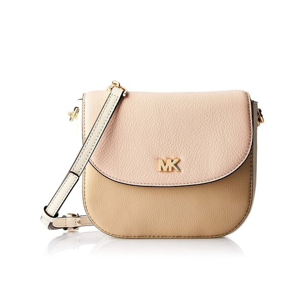 abeef11a9a73 MICHAEL Michael Kors Half Dome Pebble Leather Crossbody Bag Oat Pink Gold -  One