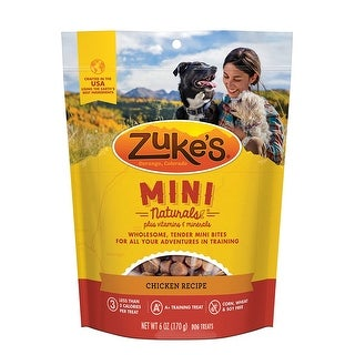 Zuke's Mini Naturals Chicken Recipe 6 oz Dog Treats