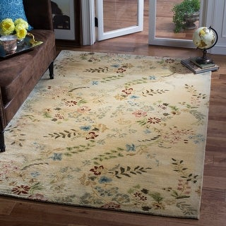 Link to Safavieh Handmade Metro Maelane French Country Floral Wool Rug Similar Items in Shabby Chic Rugs