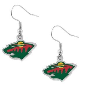 Minnesota Wild NHL Dangle Logo Earring Charm Gift Set