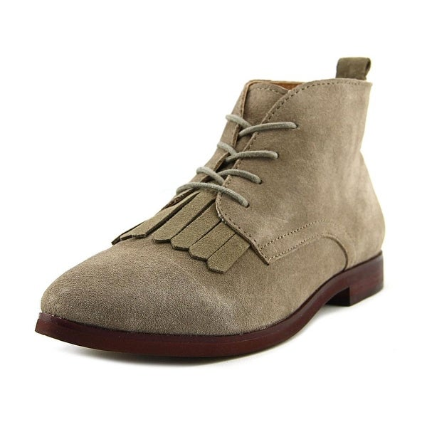 Kensie Levy Women Round Toe Suede Gray Chukka Boot