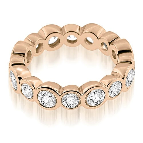 2.80 cttw. 14K Rose Gold Stylish Bezel Set Round Cut Diamond Eternity Ring