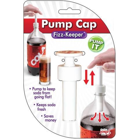 Jokari Fizz Keeper Pump Cap - Fits Most 1, 1.5 & 2 Liter Plastic Soda Pop Bottles