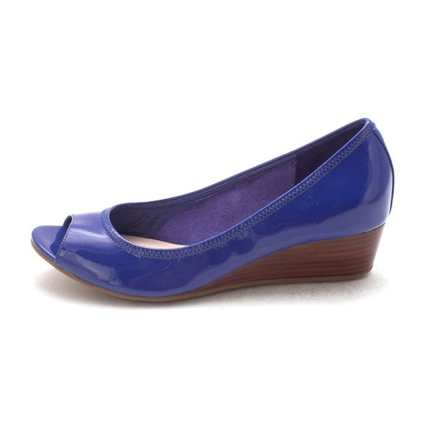 Cole Haan Womens Madysam Peep Toe Ankle Wrap Wedge Pumps - 6