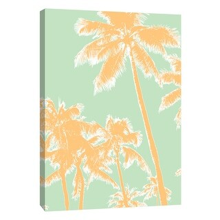 "PTM Images 9-105822  PTM Canvas Collection 10"" x 8"" - ""Retro Palms 1"" Giclee Palms Art Print on Canvas"
