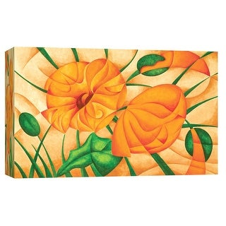 """PTM Images 9-101696  PTM Canvas Collection 8"""" x 10"""" - """"Poppies IV"""" Giclee Poppies Art Print on Canvas"""