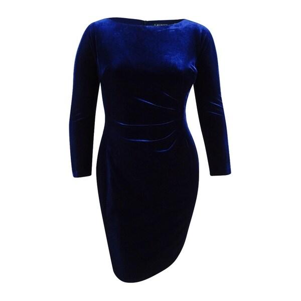 815a20af296 Shop Lauren Ralph Lauren Women s Velvet Sheath Dress - Nightfall - On Sale  - Free Shipping Today - Overstock.com - 18300996
