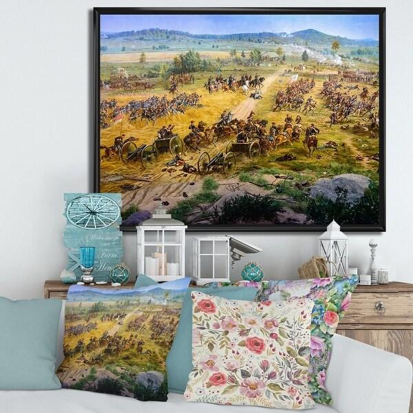 Designart 'Gettysburg National Military Park' Vintage Framed Canvas Wall Art Print. Opens flyout.