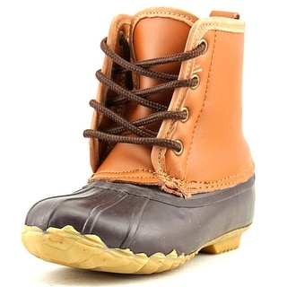 Western Chief Four Eye Duck Youth Round Toe Synthetic Brown Rain Boot