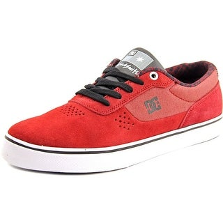 DC Shoes Switch S Es Women Round Toe Suede Burgundy Skate Shoe