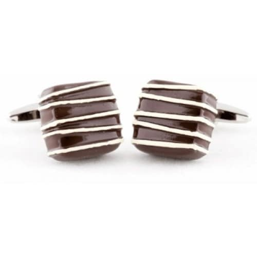 Piece Of Brown Cufflinks